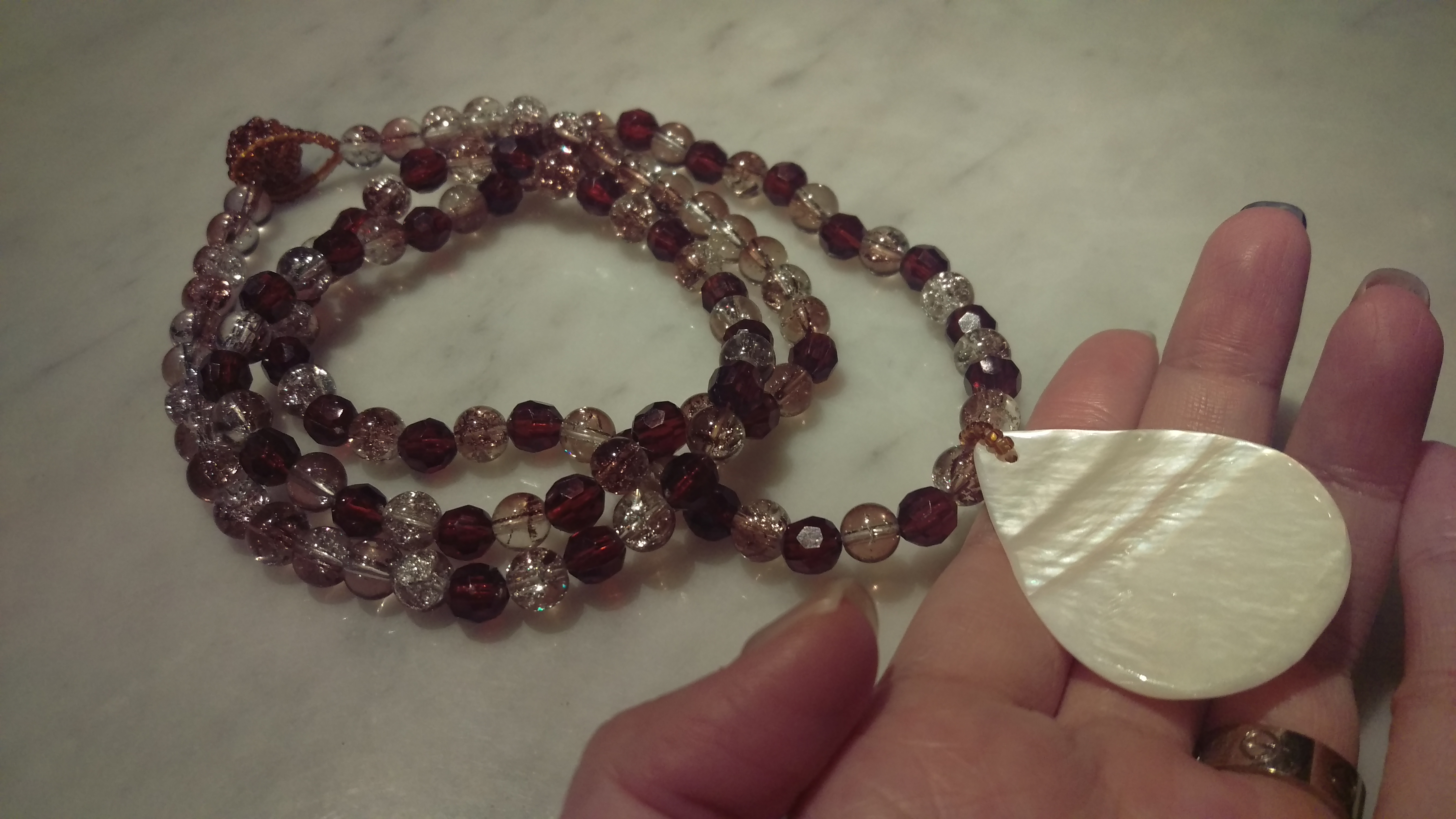 My necklace with all the shades and colours of tonal subtleties...