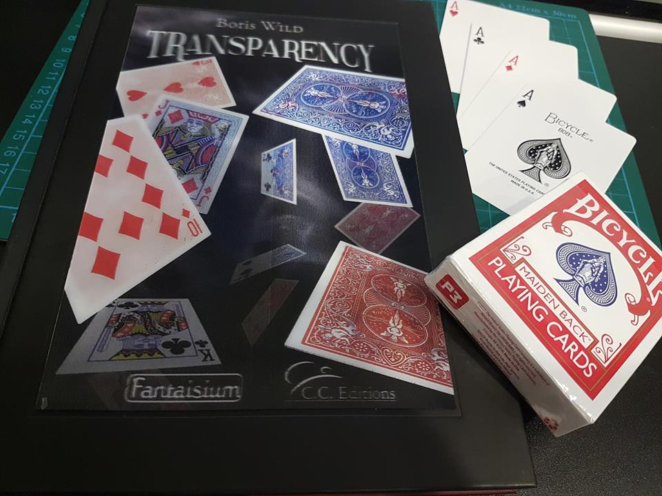 Boris Wild's Transparency, pictured with Penguin Magic's Marked Deck